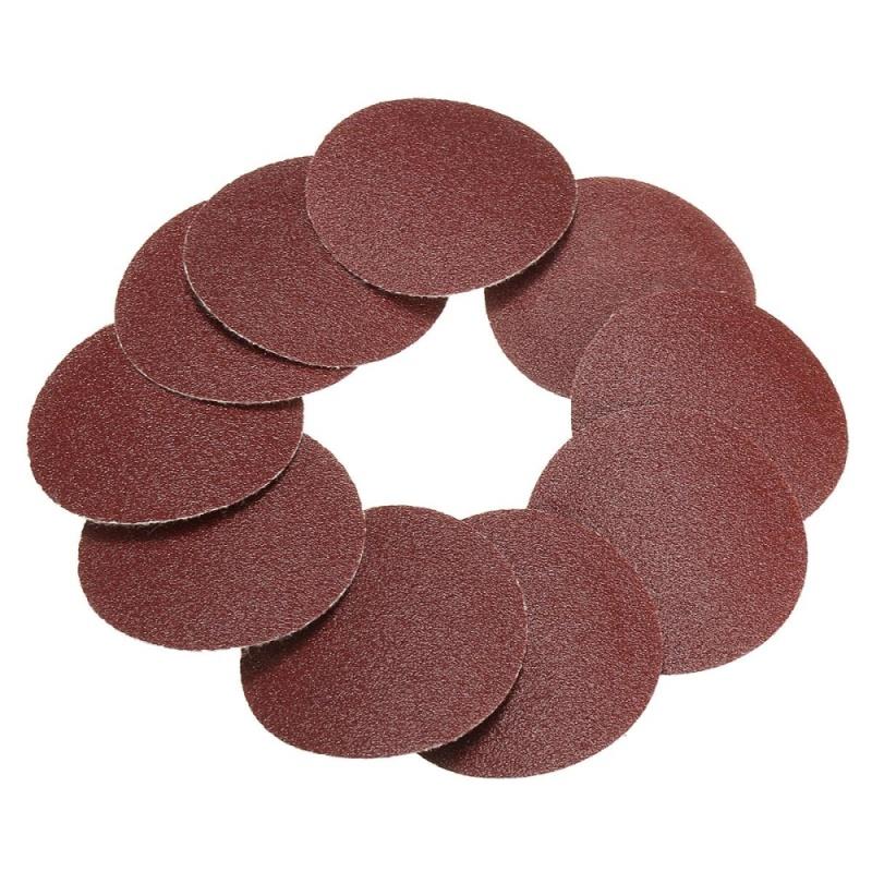 10x 50mm 2inch Sanding Discs Sandpaper 120 Grit - intl