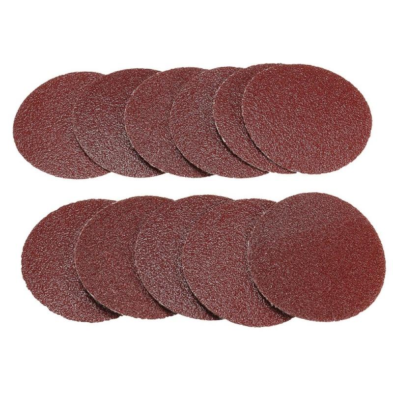 10x 50mm 2inch Sanding Discs Sandpaper 80 Grit - intl