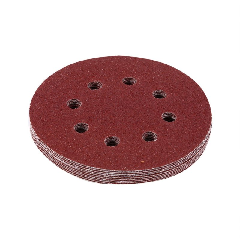 125mm Polishig Discs Red Sanding Discs 8 Hole Grit Sand Papers(60#) - intl