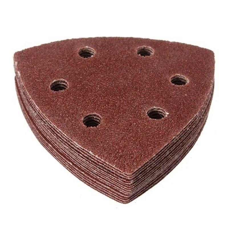 15pcs Sanding Sheet Hook & Loop 60 80 120 180 240 Grit Sandpaper Kit 90mm - intl