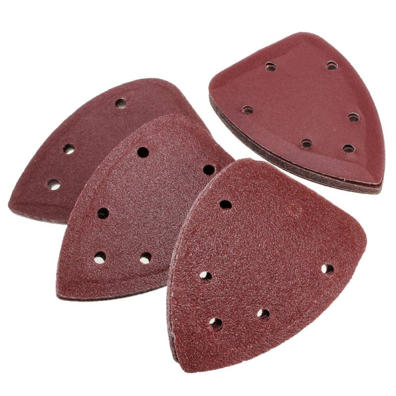 40X 4 60+80+120+240 Grit Mouse Sanding Sheet Discs Triangle Grinder Paper Pad - intl