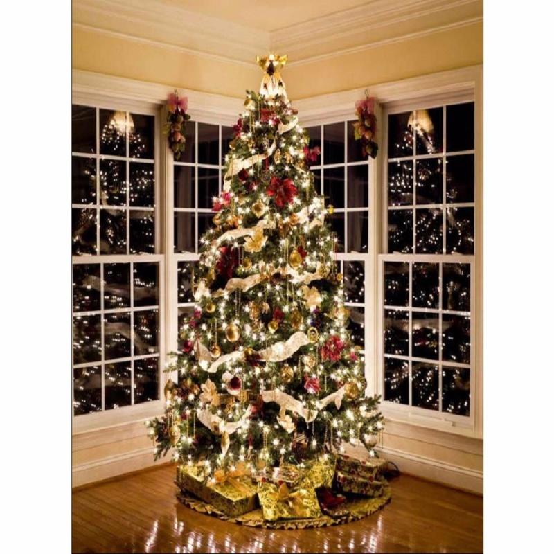 5x7FT Newborn Twinkling Christmas Tree Backgrounds Studio Photography Backdrops