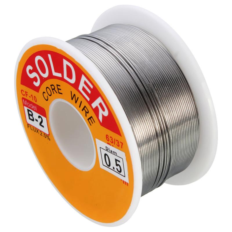 63/37 Tin/lead Rosin Core 0.5-2mm 2% Flux Reel Welding Line 100G Solder Wire 0.5mm - Intl