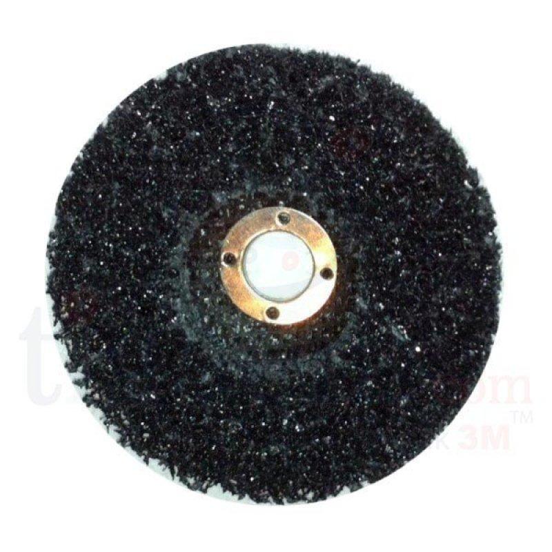 Bánh chà nhám phá gỉ sét, sơn cũ, ba zớ 3M Scotch-Brite Cleann Disc (đen)