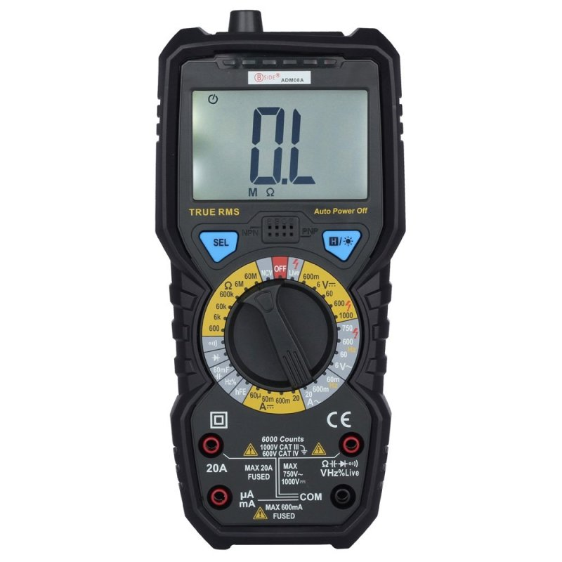 BSIDE ADM08A True RMS Value Digital Multimeter Temperature Capacitance Frequency Test (Black) - intl