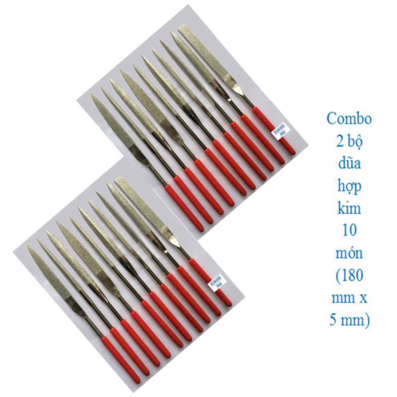 Combo 2 bộ dũa hợp kim 10 món 5 x 180 mm