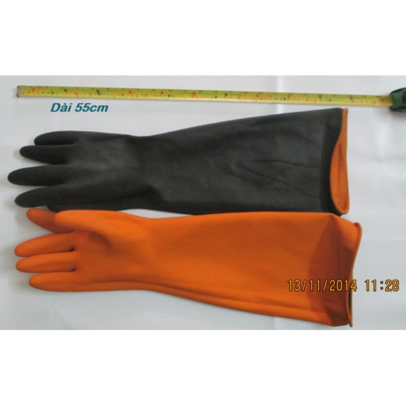 Combo 2 đôi Găng tay chống hóa chất nhẹ NEO HD27 Orange