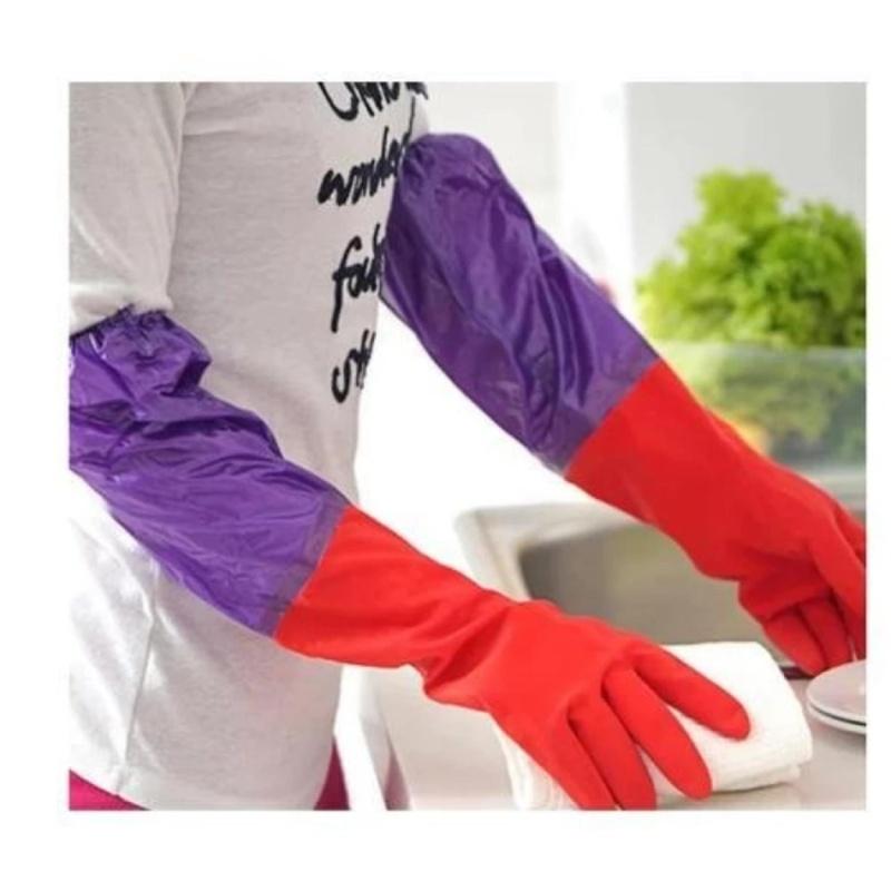 combo 2 đôi găng tay rửa bát lót nỉ