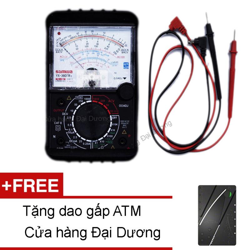 Đồng hồ đo kim vạn năng VOM YX360TRe (Đen) + Tặng Dao gấp ATM