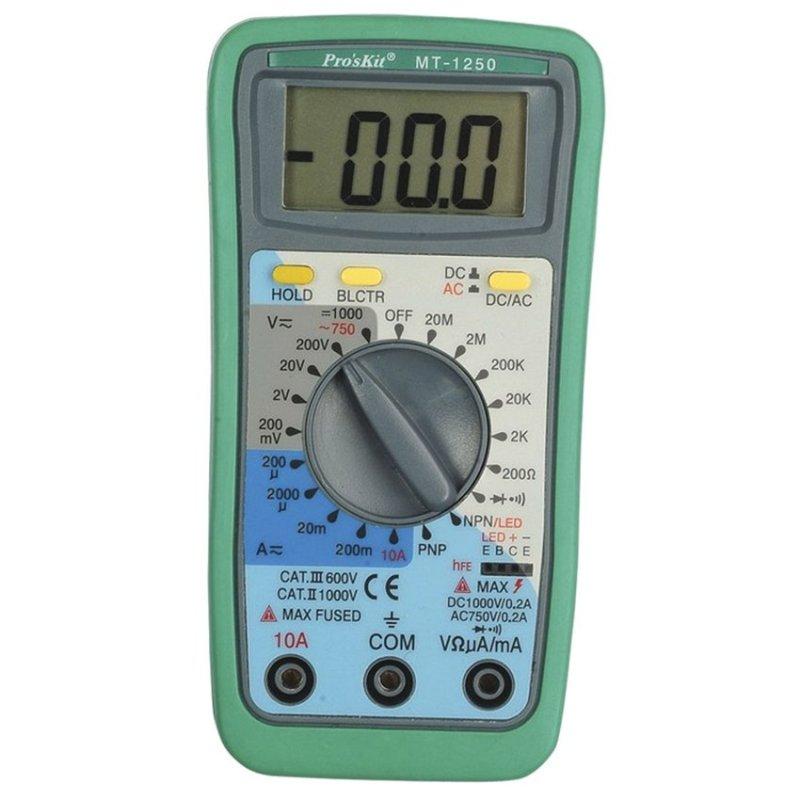 Đồng hồ đo Pro'skit MT-1250 (Xanh)