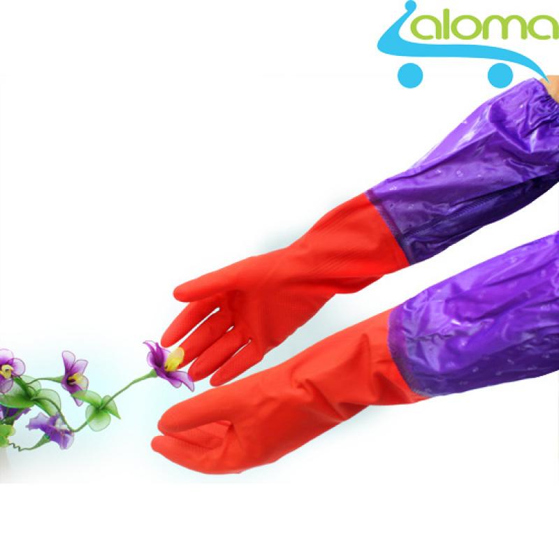 Găng tay cao su lót nỉ mùa đông cao cấp