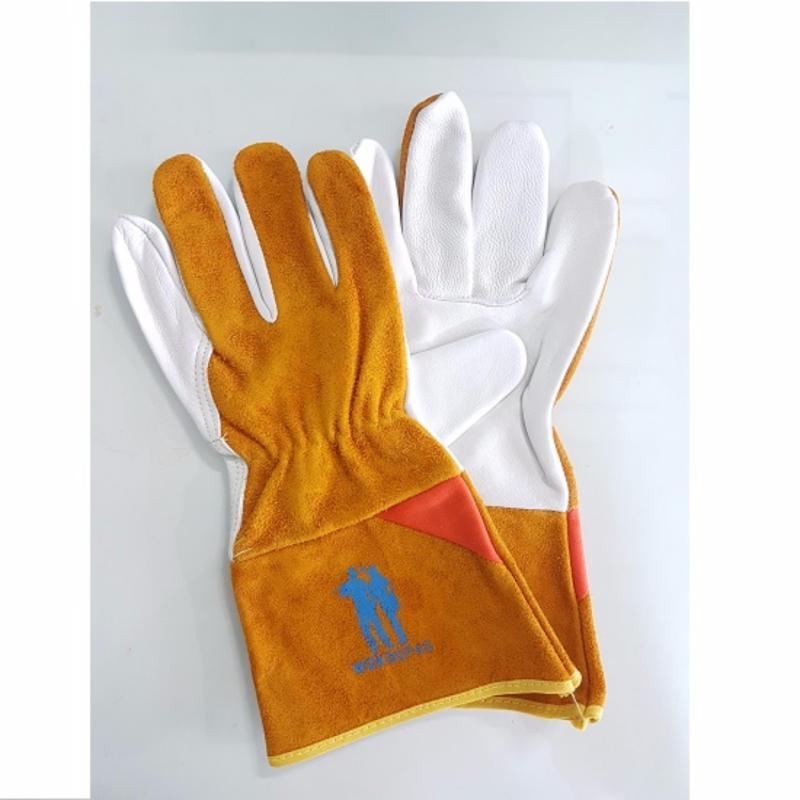 Găng tay da hàn tig dài tay Woksupas