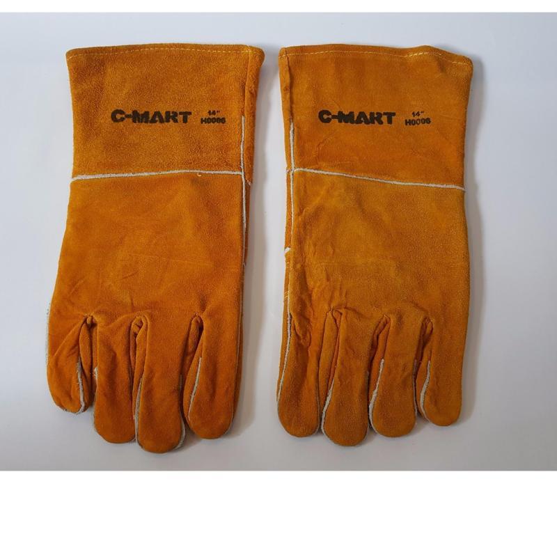Găng tay da thợ hàn(Vàng)
