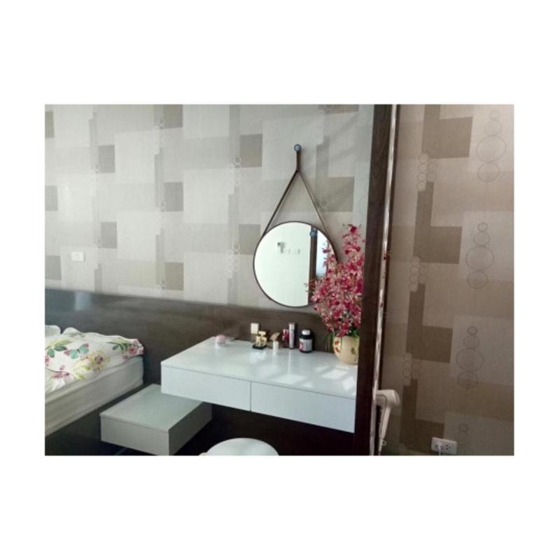 Gương bàn trang điểm dây da 50cm