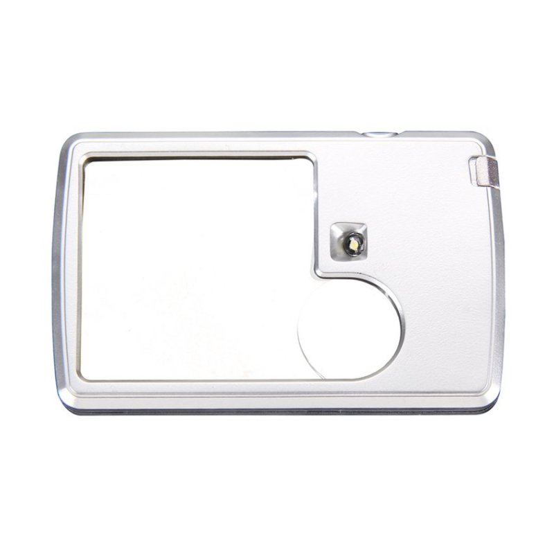 HKS Power 3x 6x LED Illuminated Card-shaped Magnifier Reading Observing Tool - intl