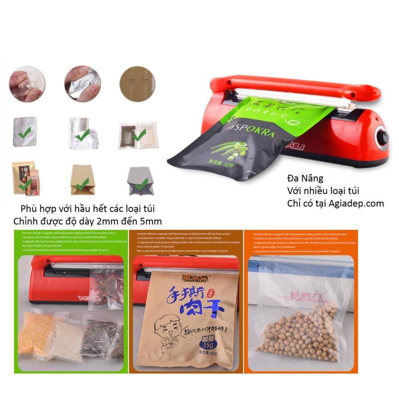 Máy dán, hàn miệng túi đóng gói thực phẩm (Super đa năng cho nhiều loại túi) của Agiadep