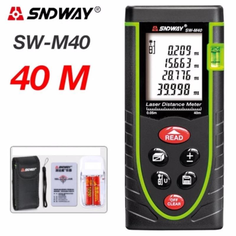 Máy đo khoảng cách bằng tia laser SNDWAY SW-M40 cự ly 40M