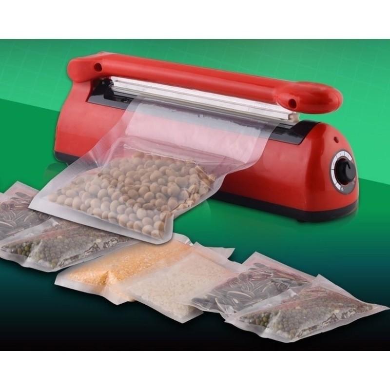 Máy ép túi ni lông - Máy hàn túi loại TỐT, DẦY DẶN với đường hàn rộng 5mm, dài 200mm - Bảo hành 1 đổi 1 bởi Aha Shop