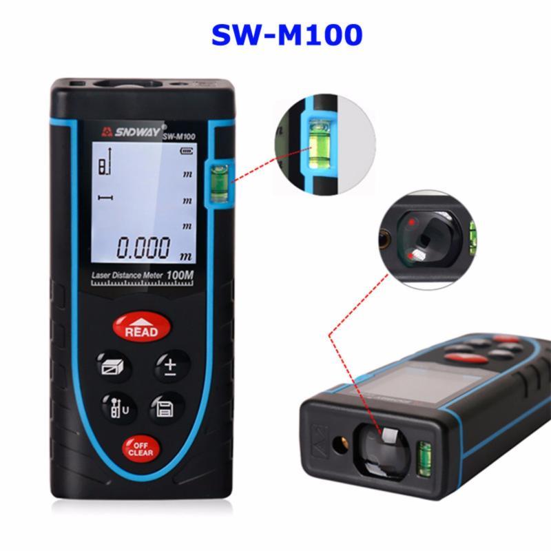 Máy trắc địa-Thước đo khoảng cách bằng tia laser SNDWAY SW-M100 cự ly 100m