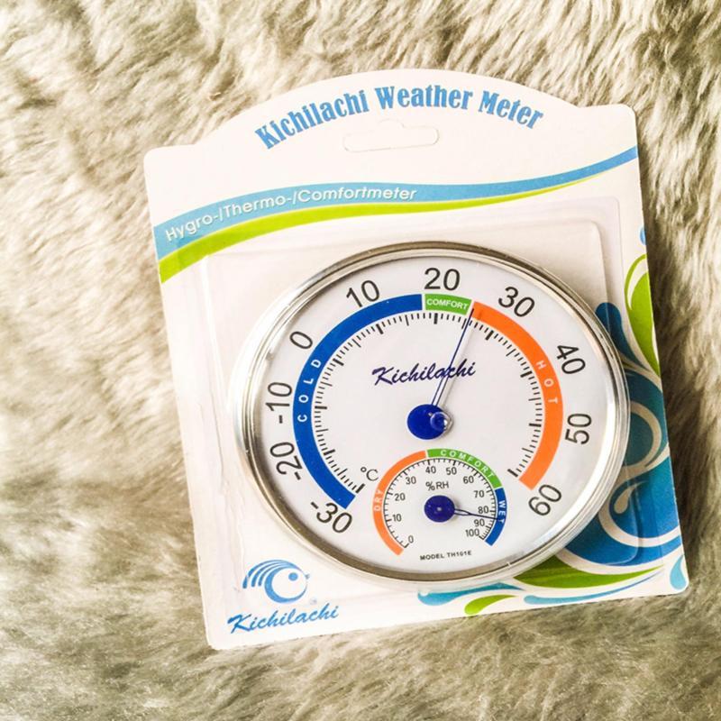 Nhiệt ẩm kế Kichilachi TH101E đo nhiệt độ phòng và ngoài trời (cỡ to)