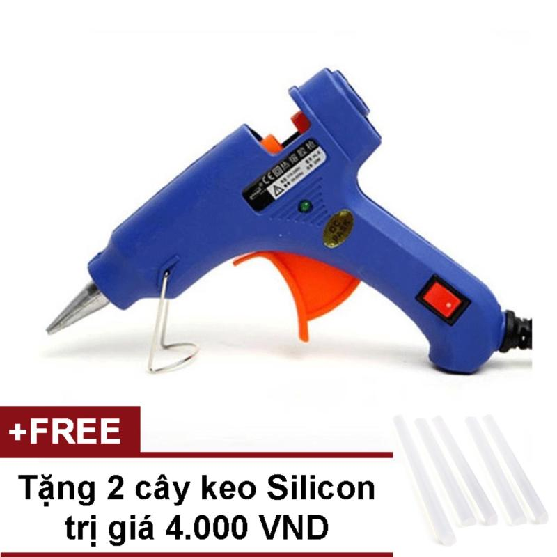 Súng bắn keo Nến silicon (Xanh) + Tặng 2 cây keo Silicon nến