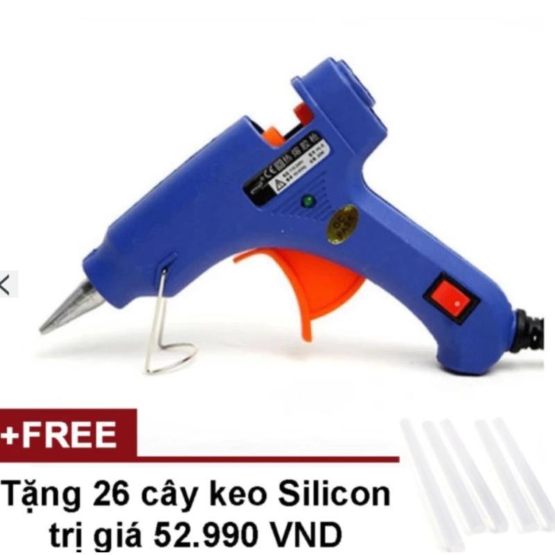 Súng bắn keo Nến silicon (Xanh) + Tặng 26 cây keo Silicon nến