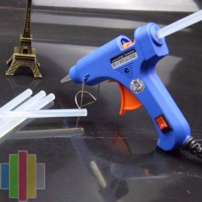 Súng bắn keo Nến silicon (Xanh) + Tặng 3 cây keo Silicon nến