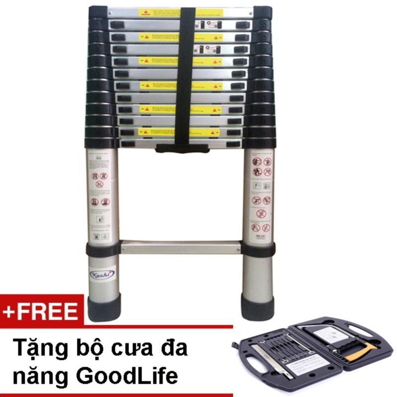 Thang rút Kachi loại 3.8m + Tặng bộ cưa bằng thép GoodLife