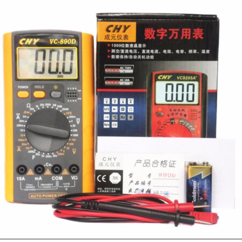 Thiết bị dụng cụ đo điện điện tử CHY VC-890D