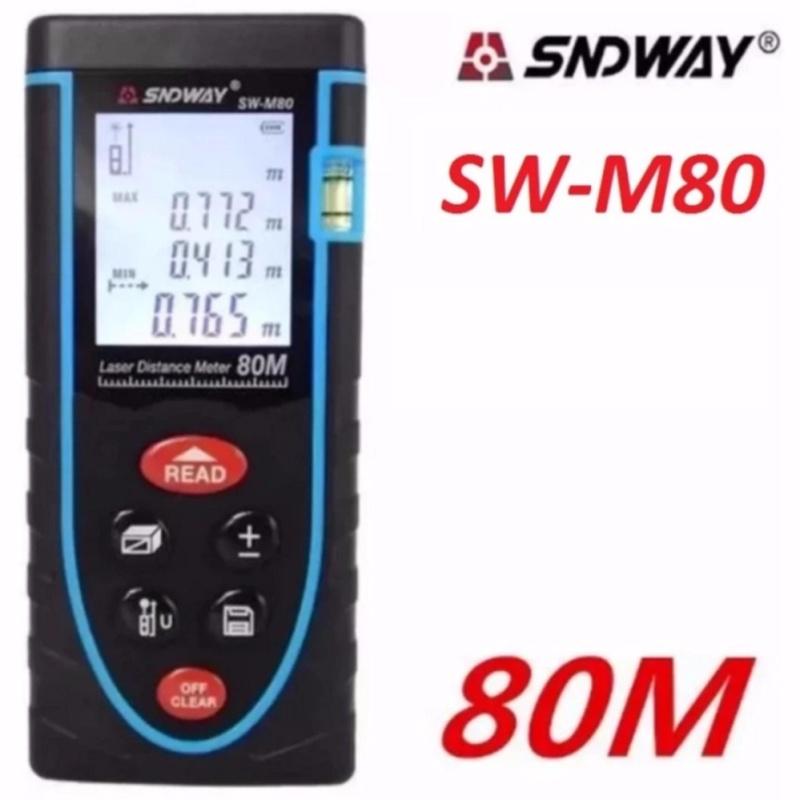 Thước đo khoảng cách bằng tia laser SNDWAY SW-M80 cự ly 80m GX-866B