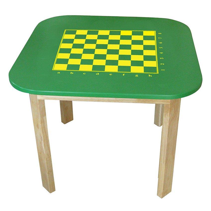 Win Win Toys 64992K – Bàn in sân cờ vua / Gỗ cao su