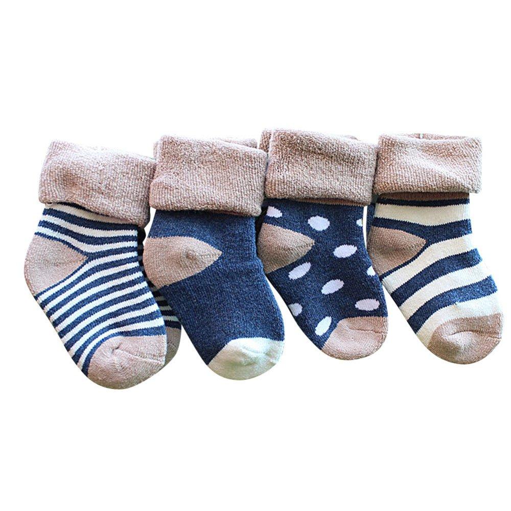 4pcs Lovely Baby Newborn Infant Toddler Kids Soft Cotton Socks - intl