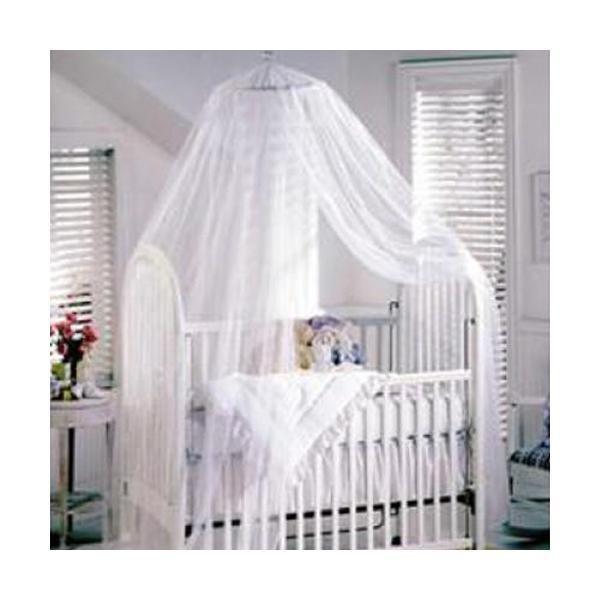 Baby Mosquito Net Baby Toddler Bed Crib Canopy Netting White - Intl