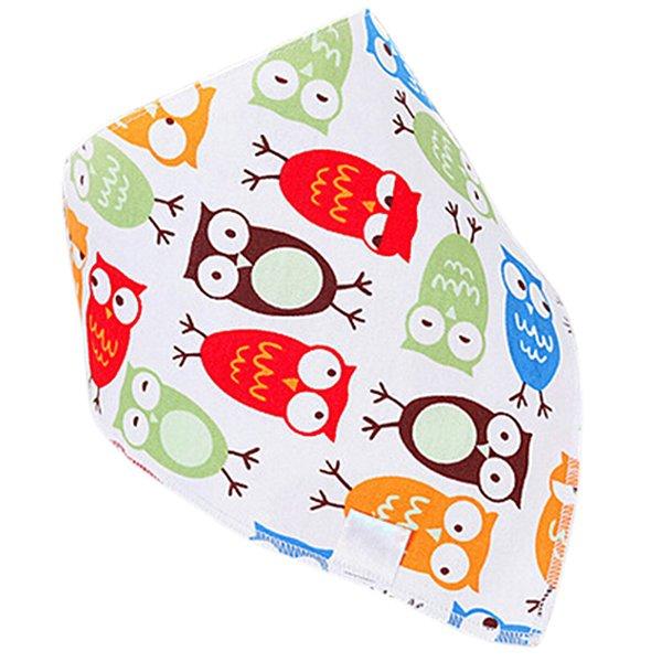 Bluelans Baby Boy Girl Owl Cotton Saliva Towel Lovey Buttons Thick Bib Feeding Bandana (Intl)