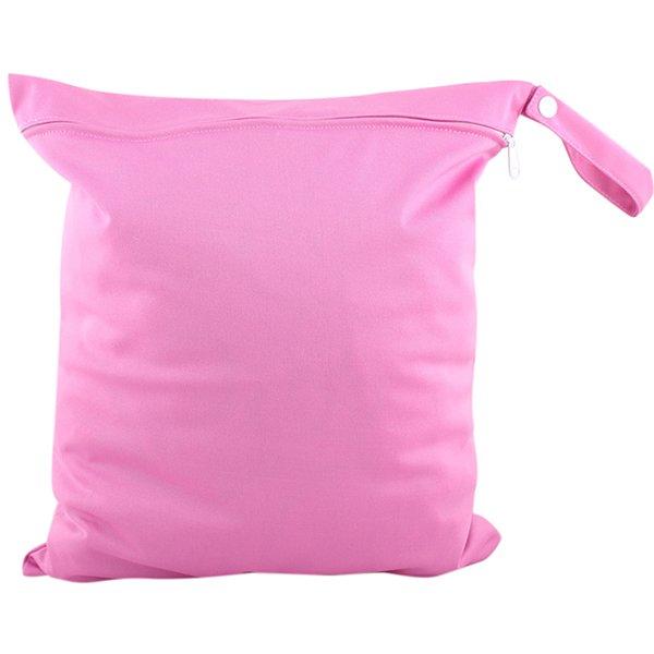 Bluelans Baby Nappy Diaper Bag Reusable Wet Dry Cloth Zipper Waterproof Holder Rose-Red (Intl)