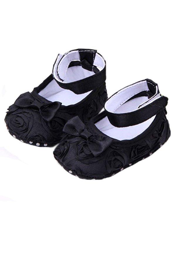 Bluelans Baby Toddler Princess AntiSlip Sandal 6-12 months (Black) (Intl)