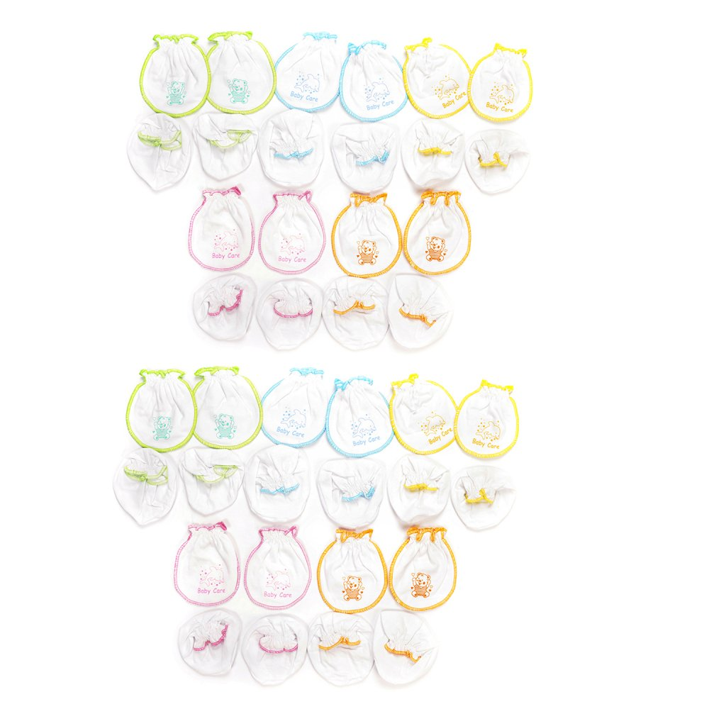 Bộ 10 Bao tay chân cotton trắng Nanio A0011