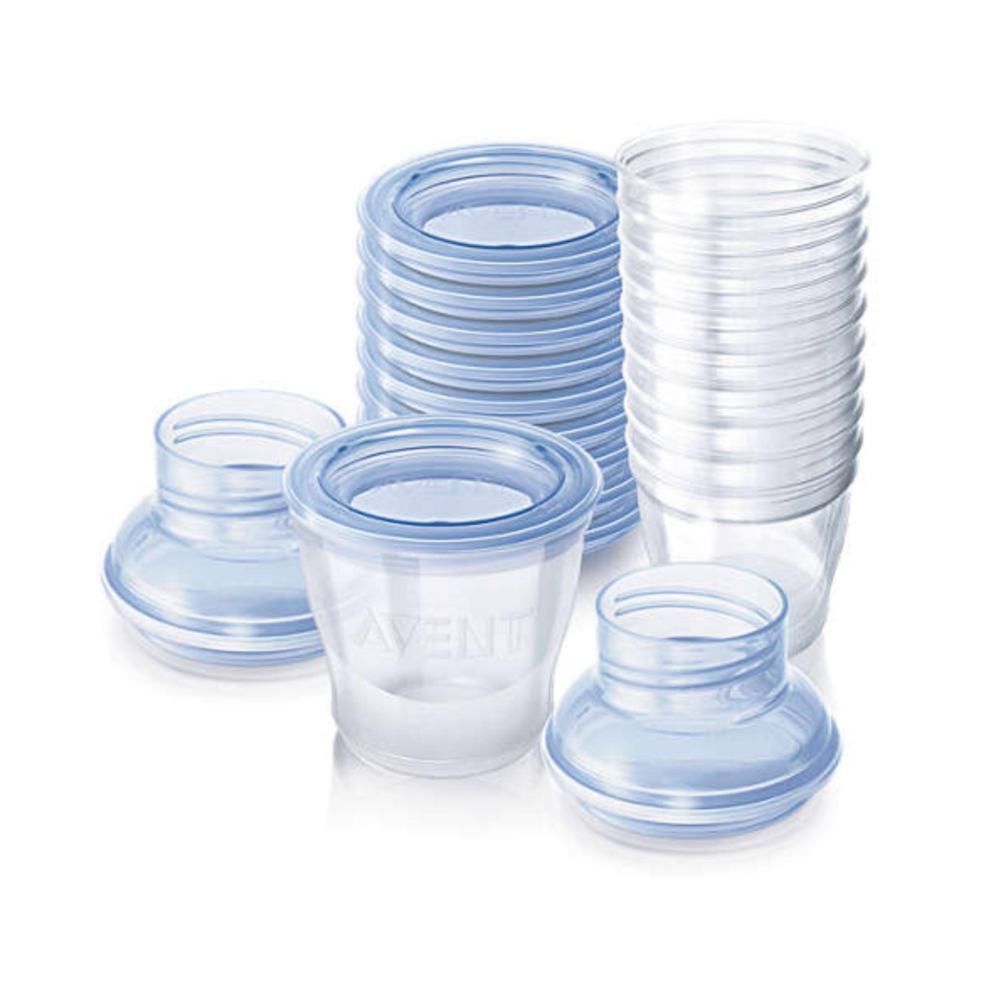 Bộ 10 Cốc trữ sữa bằng nhựa ly Philips Avent 180ml 618.10