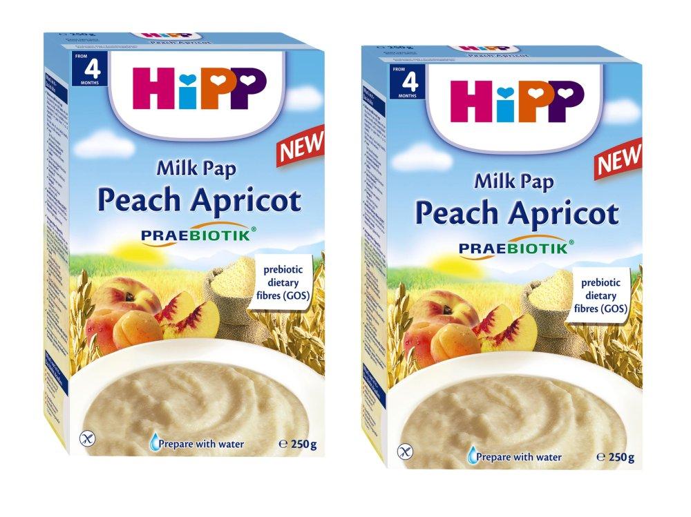 Bộ 2 bột dinh dưỡng Hipp sữa đào mơ tây 250g