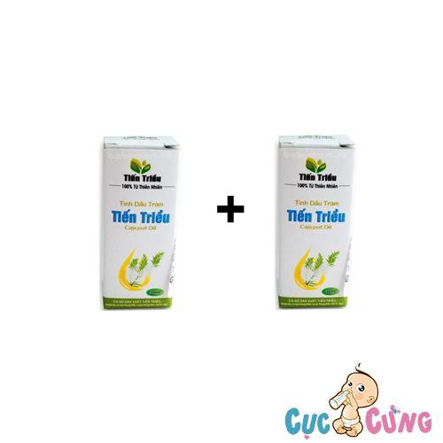 Bộ 2 chai Tinh dầu tràm trị cảm Tiến Triều 10ml