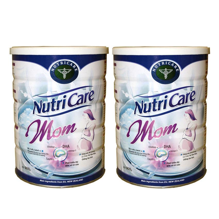 Bộ 2 hộp sữa cho bà mẹ mang thai NUTRICARE Nutri Care Mom 2 x 900g