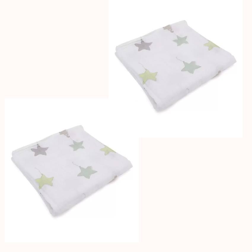Bộ 2 khăn tắm sợi tre 3 lớp Aden cho bé
