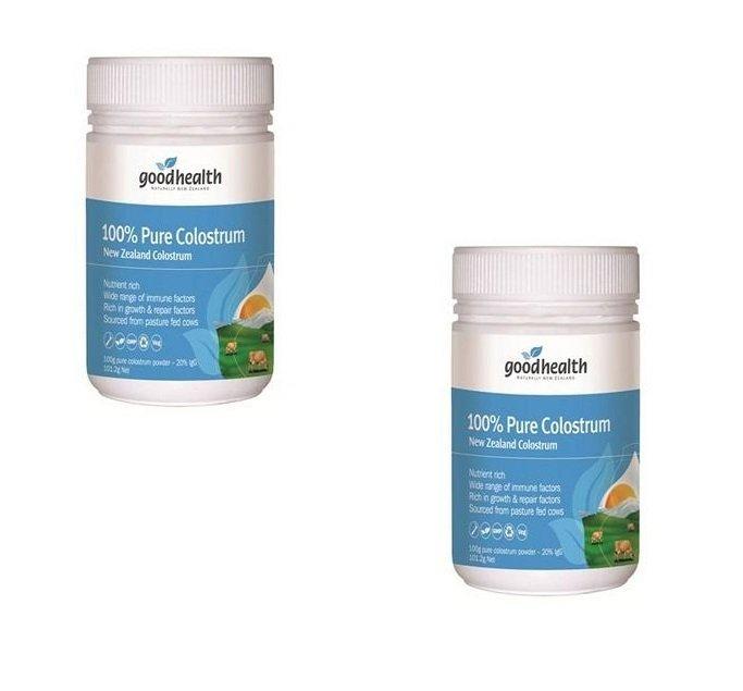 Bộ 2 sữa non nguyên chất dạng bột GOOD HEALTH 100% Pure Colostrum 100g