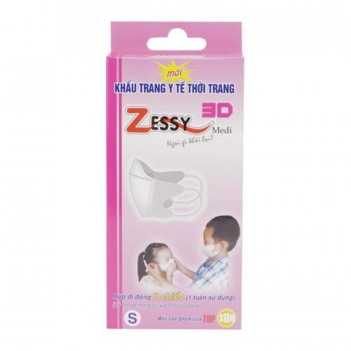 Bộ 3 Khẩu trang y tế trẻ em Zessy S6