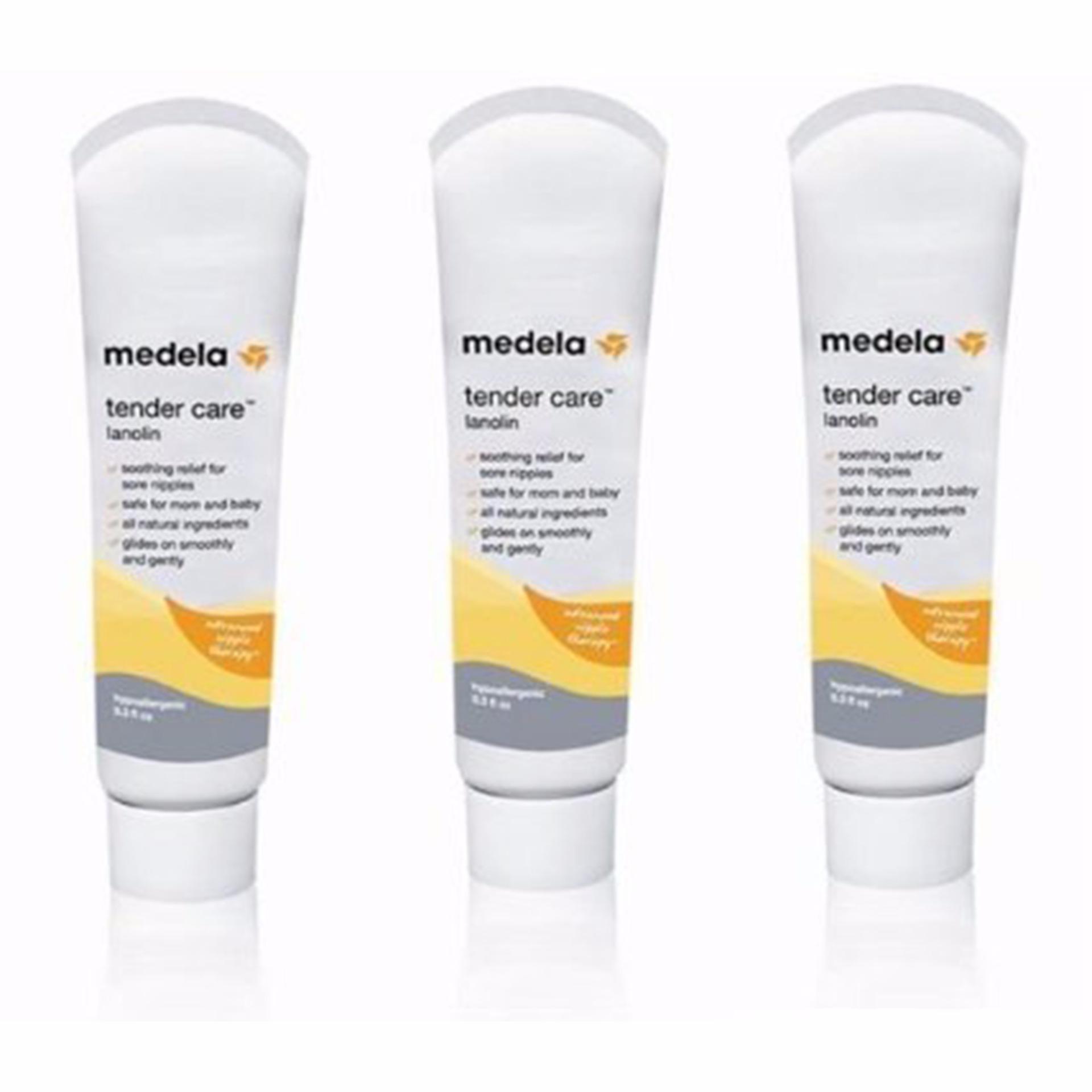 Bộ 3 tuýp kem bôi đầu ti Medela tender care 8.8ml (Vàng)