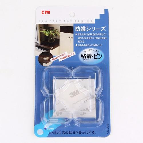 Bộ 4 miếng nhựa dẻo bịt góc bàn KM 365 (Trong suốt)