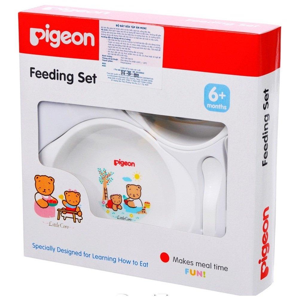 Bộ bát tập ăn Magmag Pigeon nhỏ V562 (Trắng)