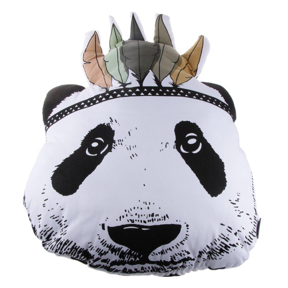 BolehDeals Adorable Stuffed Panda Head Doll Cushion Small - Intl