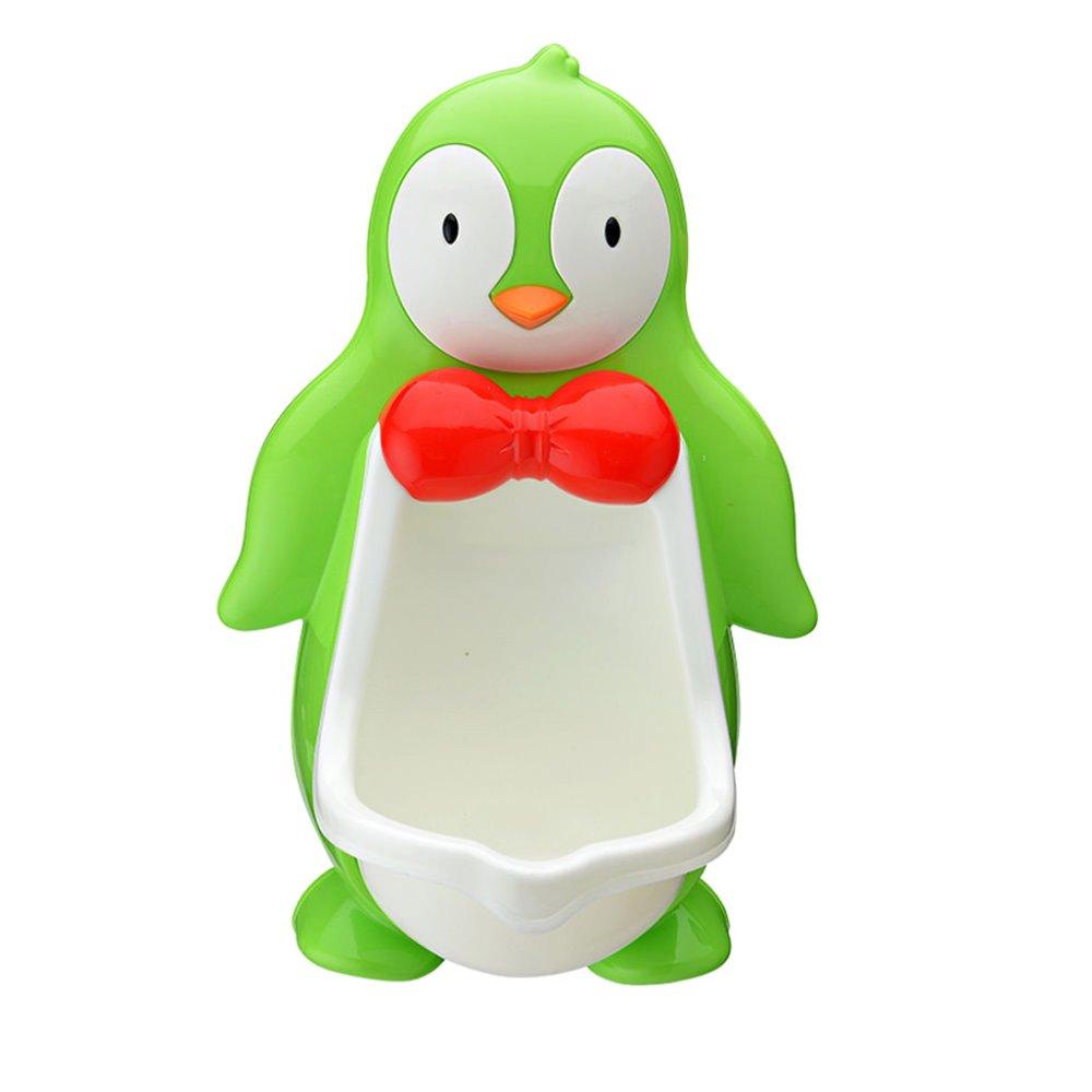 BolehDeals Baby Boy Bathroom Toilet Penguin Potty Urinal Stand Up Pee Training-Green - Intl
