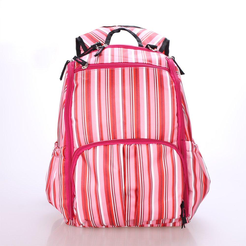 BolehDeals Multifunctional Travel Diaper Backpack Bag Waterproof Mummy Bag Pink Striped - intl
